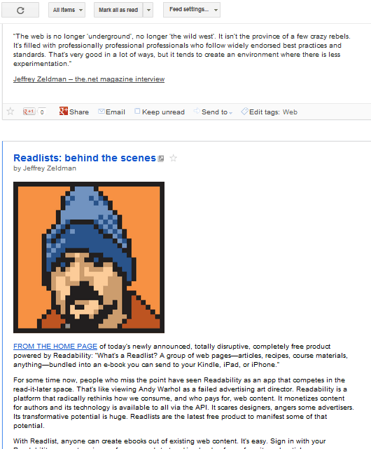 Example of an RSS Page